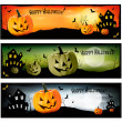 Three Halloween banners Vector — Stock Vector #12781065