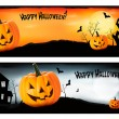 Two Halloween banners  Vector — Stock vektor