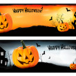 Two Halloween banners Vector — ストックベクタ