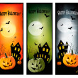 Three Halloween banners Vector — Stock Vector