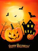 Halloween background Vector — Stock Vector