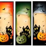 Three Halloween banners Vector — Stock Vector #13086187
