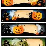 Four Halloween banners Vector — Stock Vector