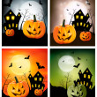 Four Halloween banners. Vector. — Stock Vector