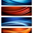 Set of colorful abstract business banners. Vector illustration. — Stock Vector