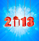 Happy new year 2013! New year design template. Vector illustration. — Stock Vector