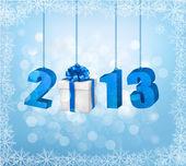 Feliz año nuevo 2013! plantilla de diseño del año nuevo. ilustración vectorial. — Vector de stock