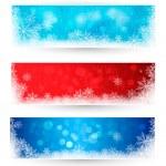 set di inverno banner di Natale. illustrazione vettoriale — Vettoriale Stock  #14136309