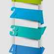 Colorful tags with numbers. Vector illustration. — Stock Vector