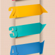 Colorful tags with numbers. Vector illustration. - Image vectorielle