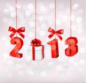 Felice anno nuovo 2013! modello di struttura del nuovo anno. illustrazione vettoriale. — Vettoriale Stock