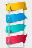 Colorful tags with letters. Vector illustration. — Stock Vector