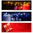 Set of winter christmas banners illustration — Stock Vector