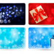 Set of cards with Christmas gift boxes,balls and snowflakes. Vector illustration. — Stock Vector