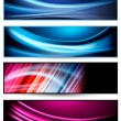 Stock Vector: Set of colorful abstract business banners