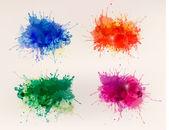 Collection d'arrière-plans colorés d'aquarelles abstraites — Vecteur