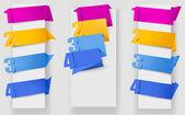 Abstraktní origami bublinu s čísly vektor — Stock vektor