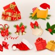 Big set of Christmas icons and objects. Vector illustration. — Stock Vector #14872837
