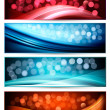 Set of abstract holiday colorful banners. Vector illustration — Stock Vector