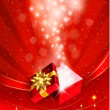Christmas background with open gift box. Vector. — Stock Vector #15557019
