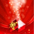 Christmas background with open gift box. Vector. - Stock Vector