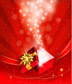 χριστούγεννα φόντο με ανοικτή δώρου. διάνυσμα. — Διανυσματικό Αρχείο