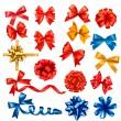 große Sammlung von Farbe Geschenk Bögen mit Bändern. Vektor-illustrat — Stockvektor