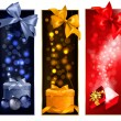 Three christmas banners with gift boxes and snowflakes. Vector i — Stock Vector #15677179