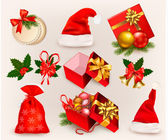 Big set of Christmas icons and objects. Vector illustration. — Stock Vector