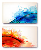 Collection of colorful abstract watercolor backgrounds. Vector — Stock Vector