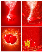 Set of Valentines day backgrounds. — Stock Vector