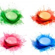 Collection of colorful abstract watercolor backgrounds. Vector. - Stock Vector