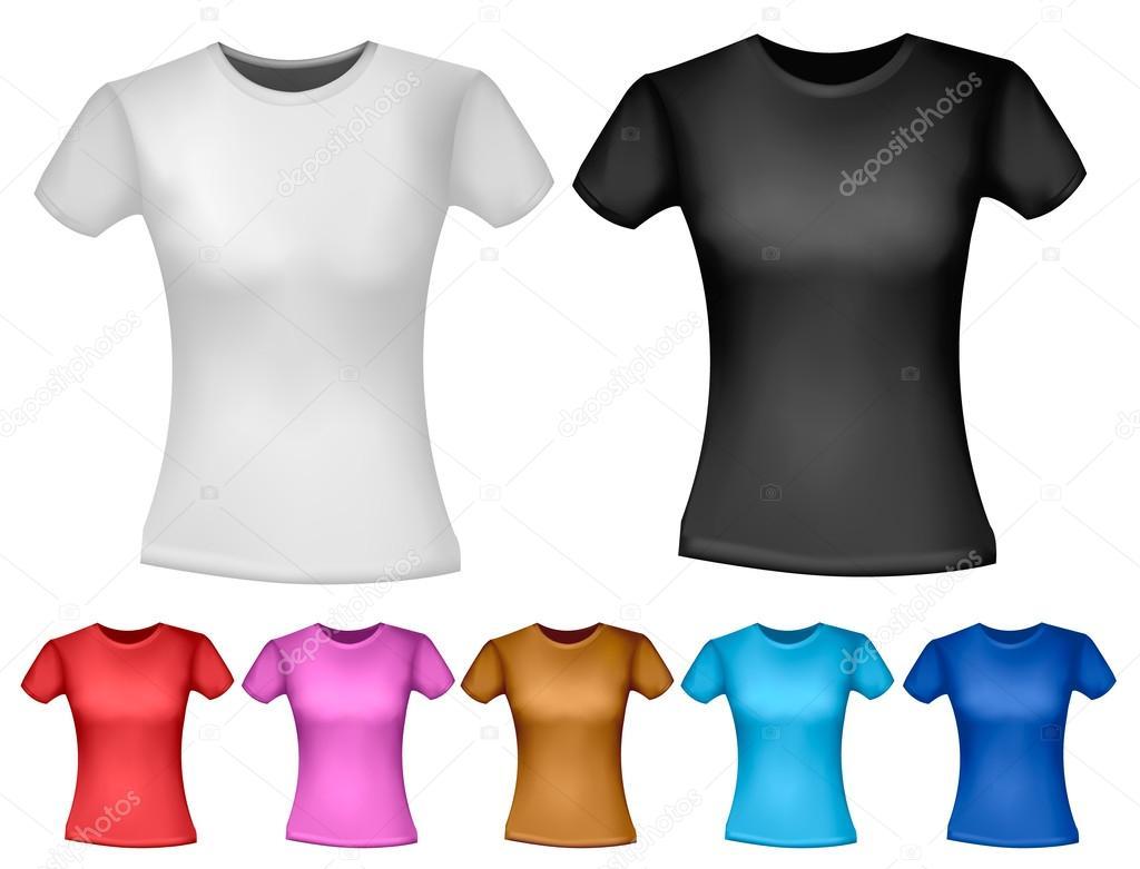 ladies black t shirt template - photo #48