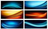 Set di sfondi astratti colorati elegante di affari. vector il — Vettoriale Stock