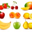 Big group of different fruit. Vector. — Stock Vector #26637193
