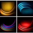 Set of business elegant colorful abstract backgrounds. Vector il — Stock Vector