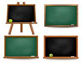 набор школьный совет доски. вернуться в школу. вектор illustra — Cтоковый вектор