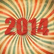 2014 Happy New Year retro background. Vector. — Stock Vector