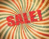 Vektor grunge retro försäljning bakgrund. vektor illustration — Stockvektor