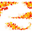 Autumn backgrounds with leaves. Vector illustration. — Stock Vector