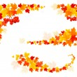 Autumn backgrounds with leaves. Vector illustration. — Stock Vector #32449777