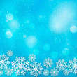 Holiday blue background with snowflakes. Vector illustration. — Stock Vector
