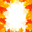 Autumn background with colorful leaves. Vector — Imagen vectorial