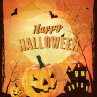 Retro Halloween background Vector — Image vectorielle
