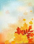 Abstract retro autumn background for your design. Vector — Stock Vector