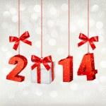 Happy new year 2014! New year design template Vector illustratio — Stock Vector