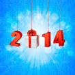 Happy new year 2014! New year design template. Vector illustrati — Vector de stock
