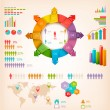Set of Info graphics elements. Vector illustration — Stock Vector