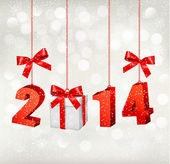 Happy new year 2014! New year design template Vector illustratio — Vector de stock