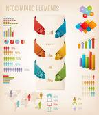 Bilgi grafik öğeleri kümesi. vektör çizim — Stok Vektör